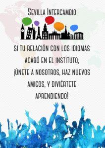 Sevilla Intercambio: Intercambio de Idiomas en Sevilla - Si tu relación con los idiomas acabó en el Instituto, únete a nosotros