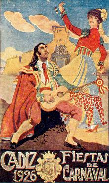 Carnaval de Cádiz cartel 1926