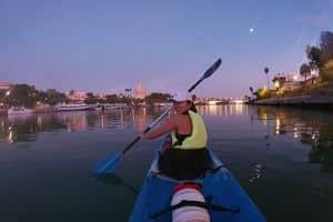 Paseo en kayak por el río Guadalquivir