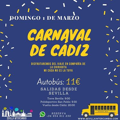 viaje carnavales de Cádiz